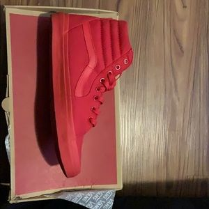 Size 11 all red high top vans